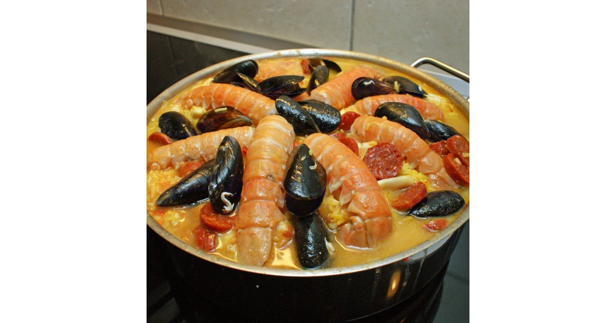 Paella i luksus version