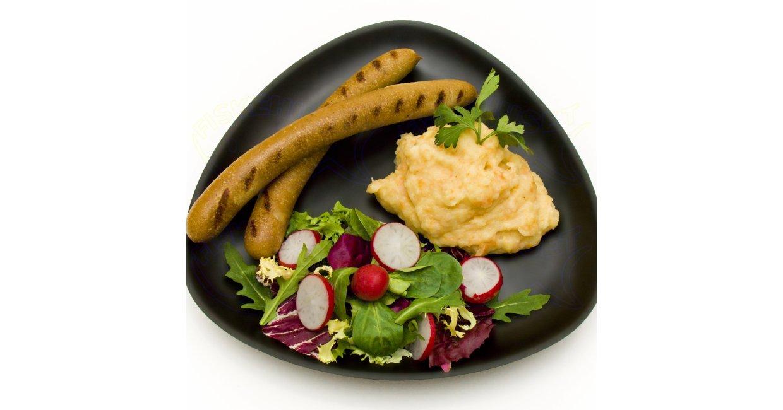 Thy-Pølsen-Fiskegriller med grov kartoffel/grøntsagsmos og grøn salat