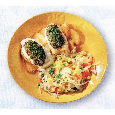 Persilleskrubber med blandet salat
